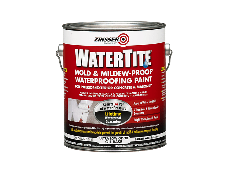 Краска Zinsser WaterTite фасадная водоотталкивающая противогрибковая