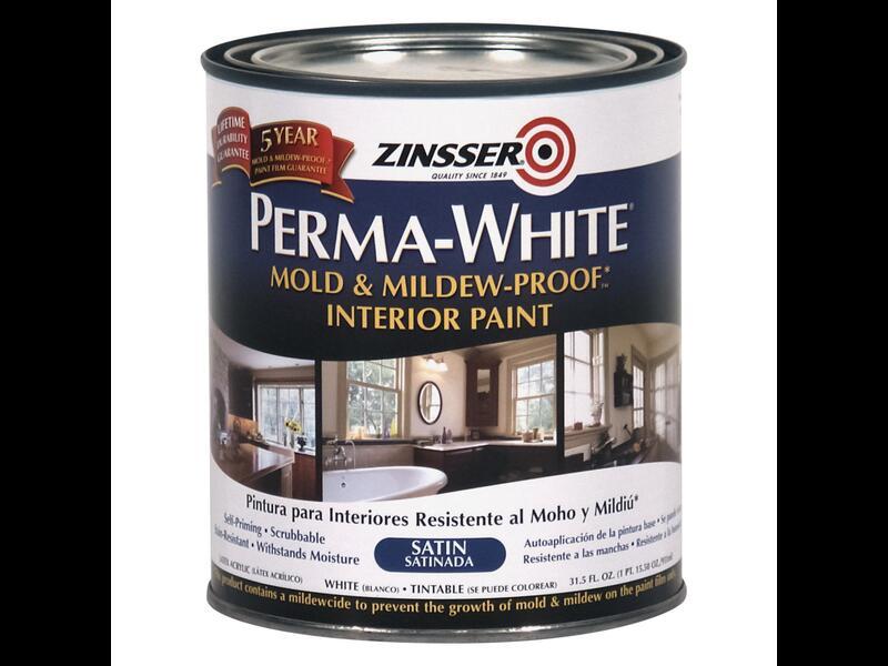 Самогрунтующаяся краска Zinsser Perma-White (полуматовая)