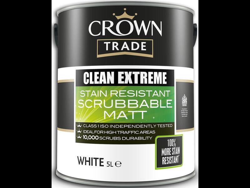 Матовая моющаяся краска Crown Trade Clean Extreme Matt