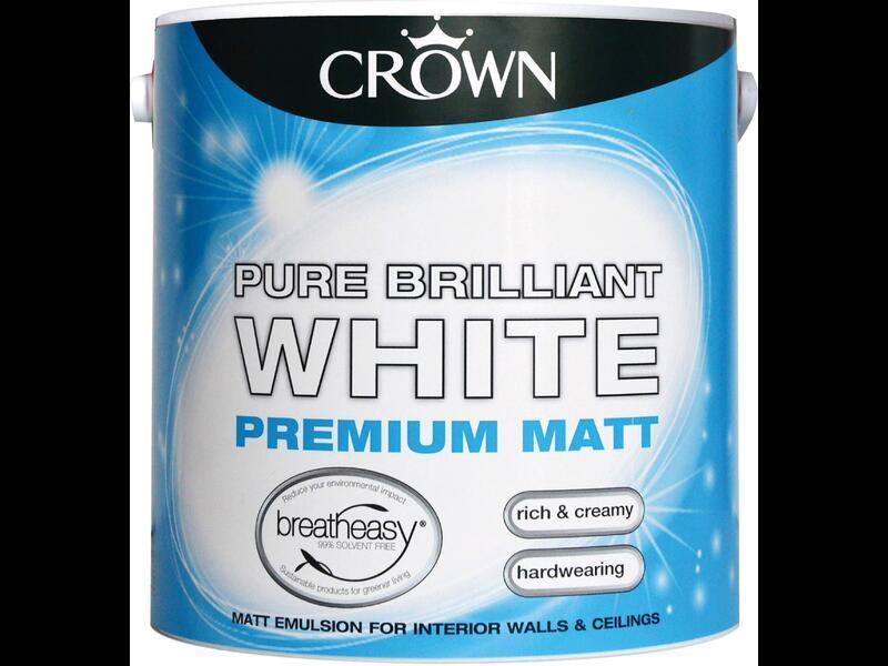 Матовая потолочная краска CROWN EMULSION BRIL. WHITE