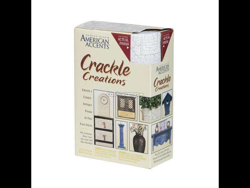 Декоративная краска American Accents Crackle Creations Эффект Трещин античная слоновая кость