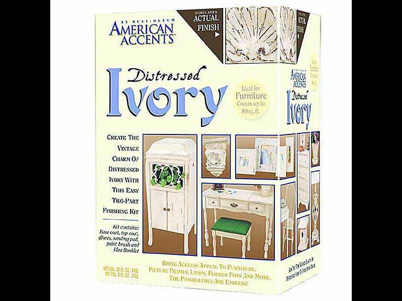 Краска декоративная American Accents Distressed Ivory с эффектом состаренной поверхности
