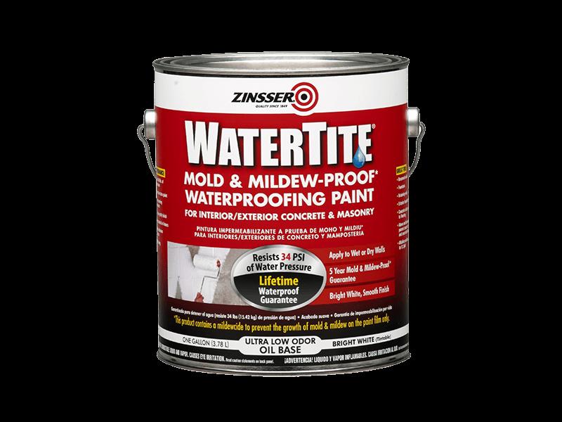 Краска Zinsser WaterTite фасадная водоотталкивающая противогрибковая