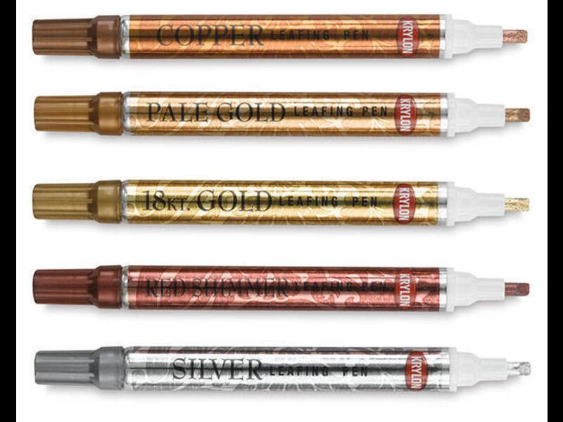 Карандаш-маркер - Золото, Медь, Хром, Красный мерцающий
