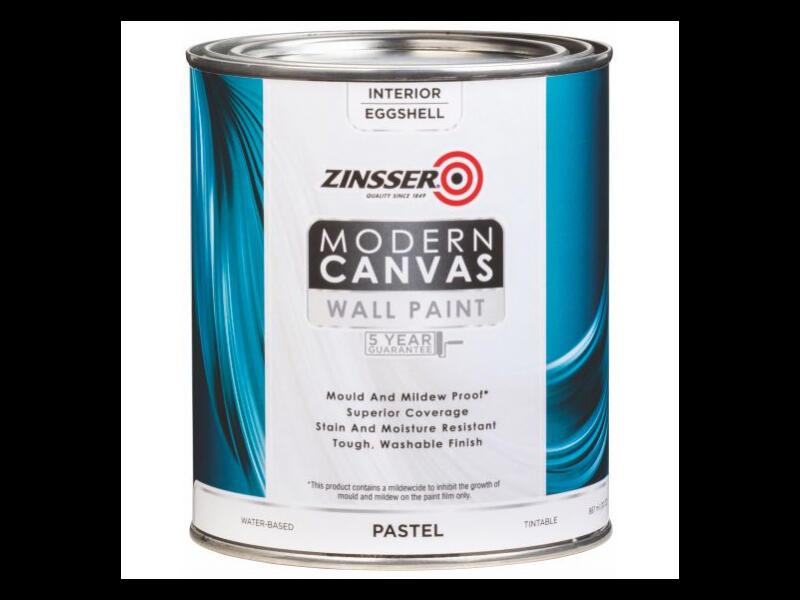 Бархатистая  (Eggshell) краска ZINSSER MODERN CANVAS