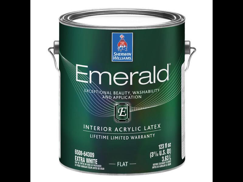 Краска для стен Sherwin Williams «Emerald Interior Acrylic Latex Paint Flat»